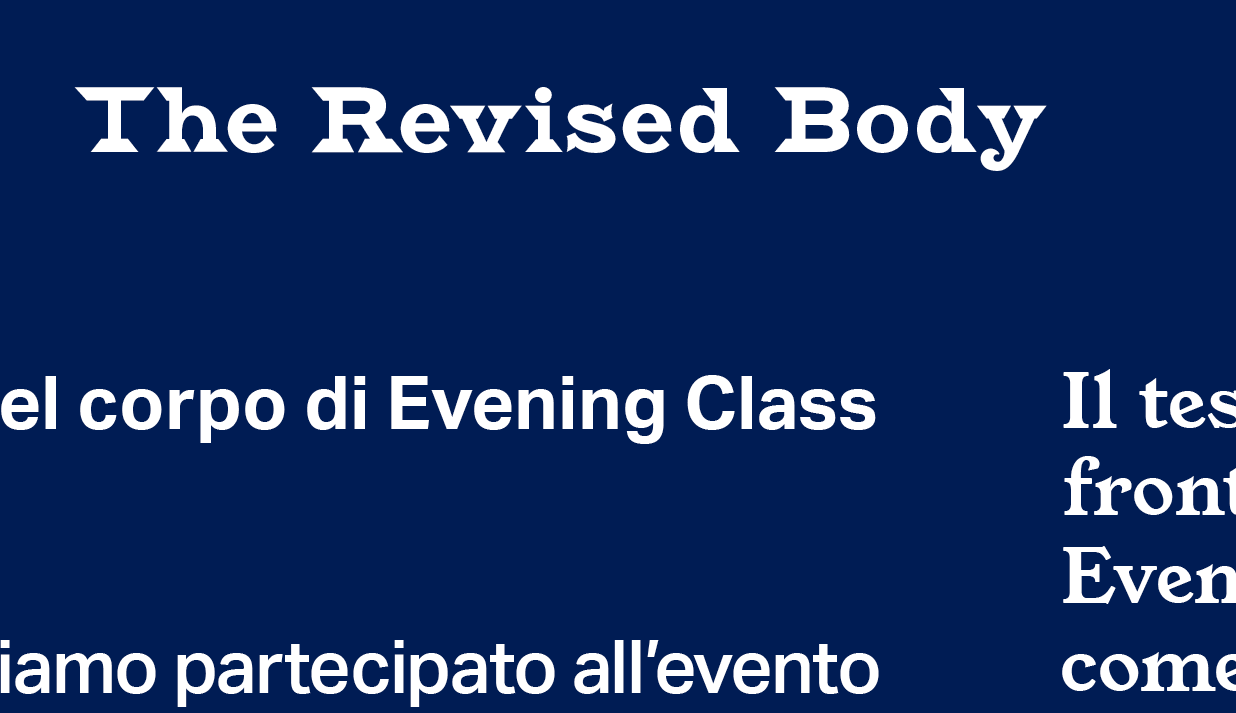 The Revised Body – Evening Class Bulletin 003