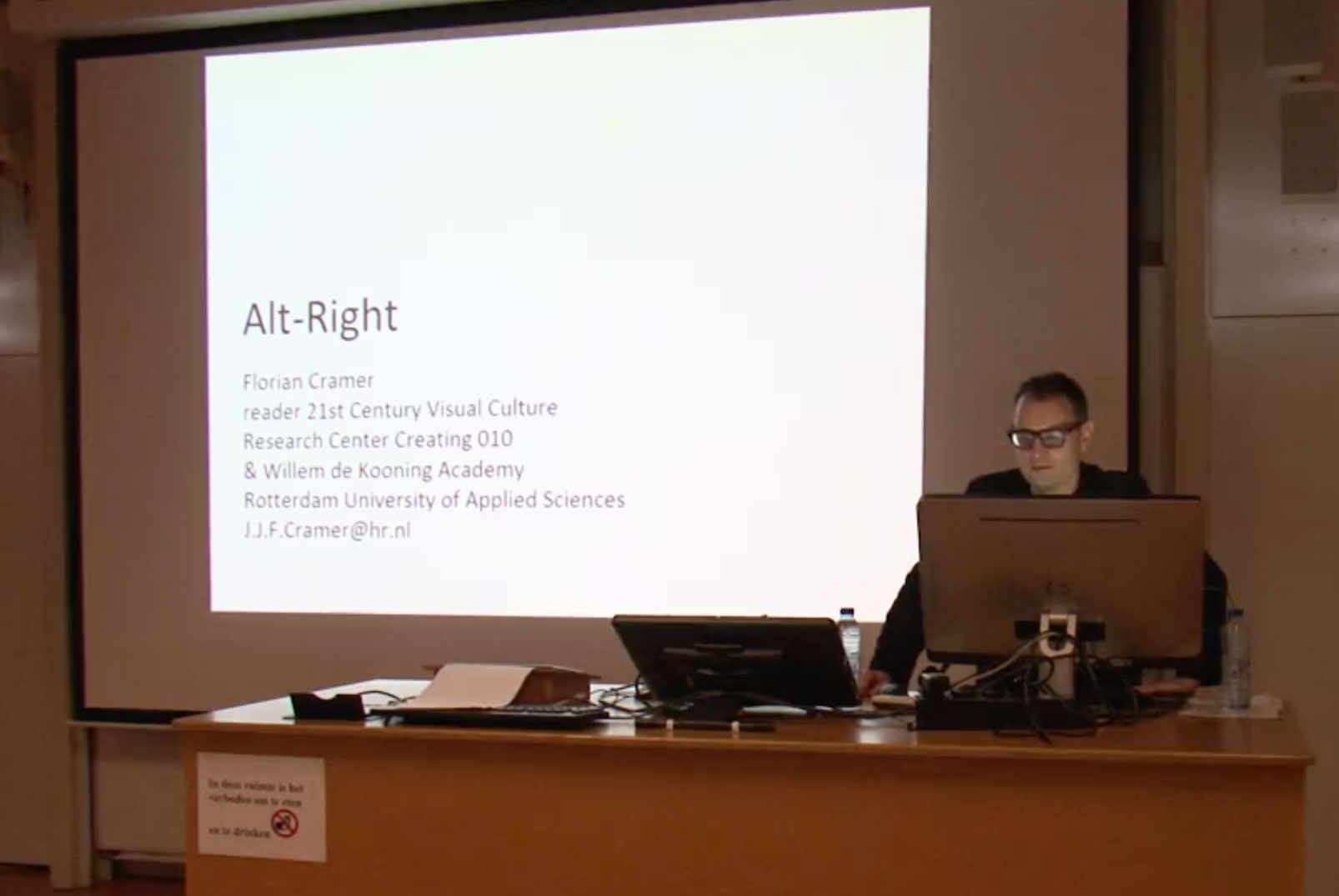 Alt-Right, A Lecture by Florian Cramer: Screening