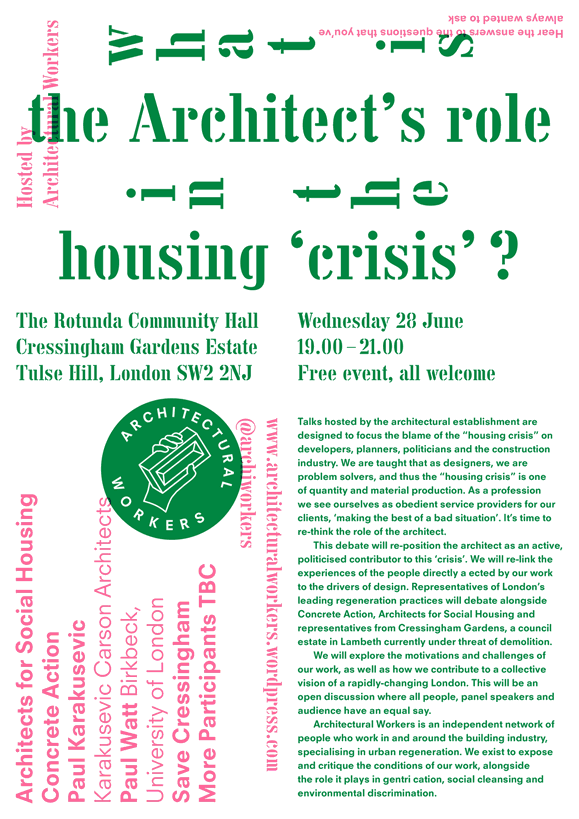 What is the Architect's Role in the Housing 'Crisis'?